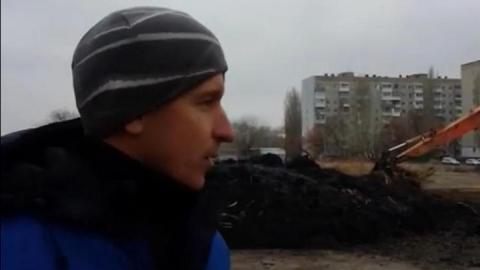 Черепахи в пруду парка Марины Расковой скрываются от осушителей. Видео