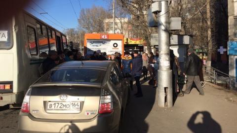 Автохам из Ленинского «наехал» на водителя автобуса