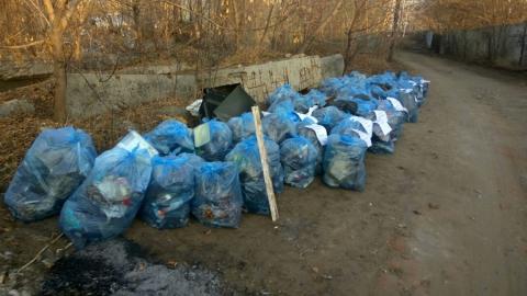 «В Елисейских полях такого нет»: саратовцы прикрепили саркастические листовки к мусорным мешкам