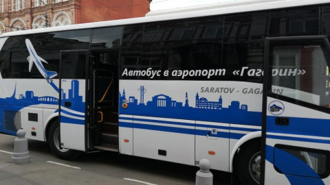 Новый автобус связал Энгельс и аэропорт