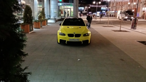 Краснодарский BMW припарковали на проспекте Кирова