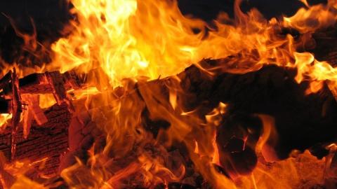 Жилой дом полностью сгорел