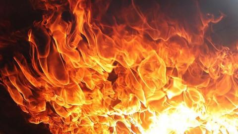 В Озинском районе сгорел мужчина