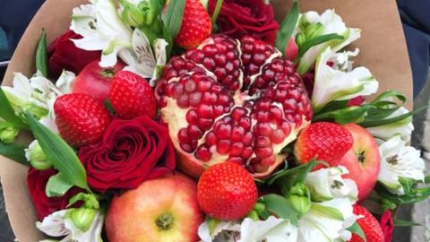 Преимущества фруктовых букетов