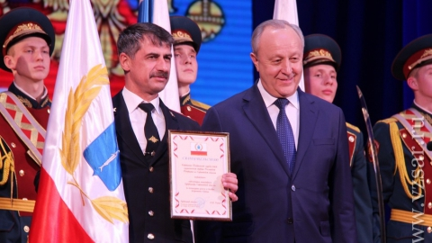 Саратовского генерала Росгвардии наградили за заслуги перед Отечеством