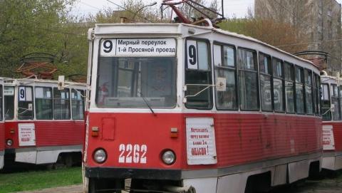 Обесточена трамвайная линия