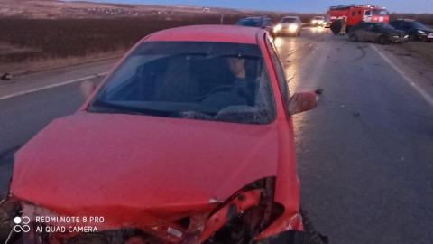 Три машины разбиты по вине пьяного водителя. ВИДЕО