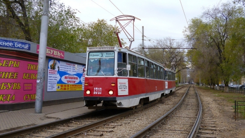 ДТП вызвало остановку трамвая