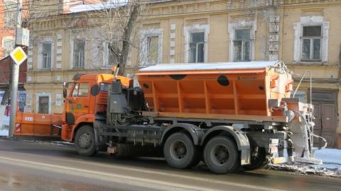 На улицы Саратова высыпано шесть тысяч тонн песка