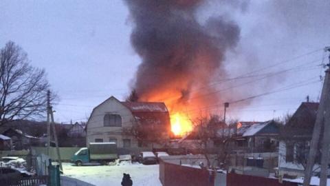 Пожилая пара пострадала на пожаре | Видео