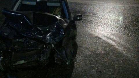 Иномарка разбилась на заправке в Заводском районе