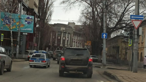 Отключение светофоров в центре Саратова