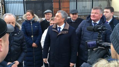 Председатель Госдумы эффектно завершил встречу с избирателями