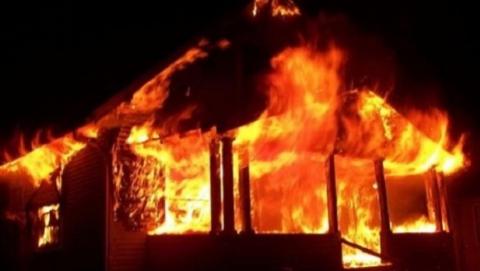 В Святославке на пожаре погиб мужчина