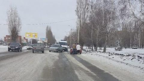"""""""Десятка"""" столкнулась с иномаркой в Балакове"""