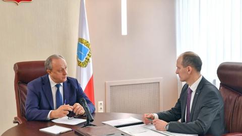 Губернатор Валерий Радаев провел встречу с управляющим Саратовским отделением ПАО Сбербанк Русланом Львовым