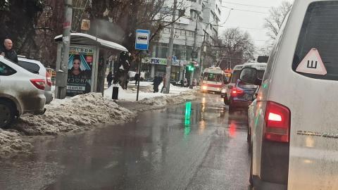 Транспортный коллапс в центре Саратова