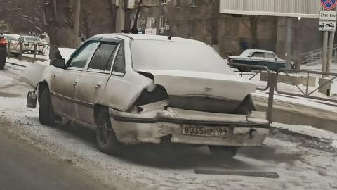 Машина разбилась в Ленинском районе