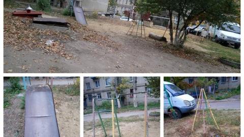 Жители Ленинского пожаловались на вызывающую слезы детскую площадку