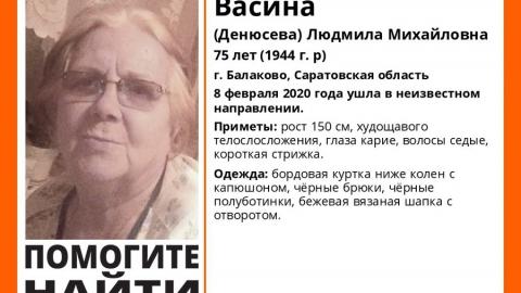 Уже неделю не могут найти пожилую жительницу Балакова