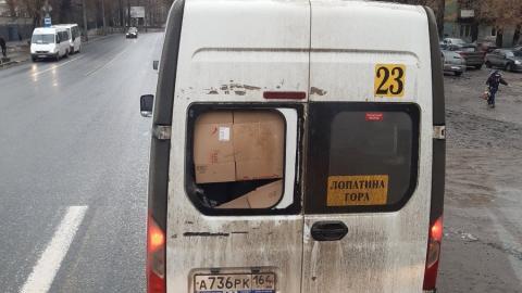 ГАЗель с картонным окном заметили на 23-м маршруте