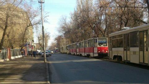 Трамвайный коллапс в центре Саратова