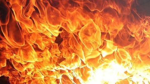 Пожар в девятиэтажке в Ленинском районе