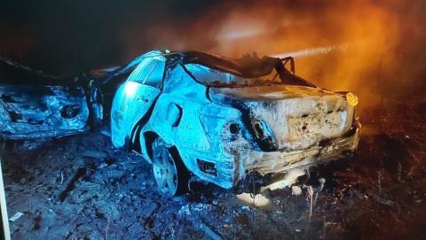 Двое мужчин погибли в горящем авто по пути из «Гагарина»