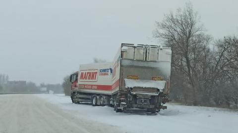 Транспорт «Магнита» застрял по дороге в Саратов