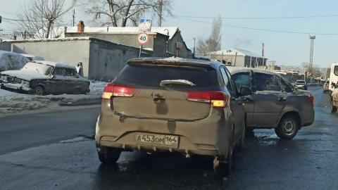 ДТП вызвало пробку в Заводском районе