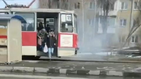 В Саратове опять загорелся трамвай | ВИДЕО