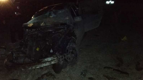 BMW вылетел на «встречку» и врезался в чехословацкий грузовик