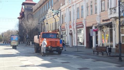 Началась дезинфекция улиц Саратова спецсредствами