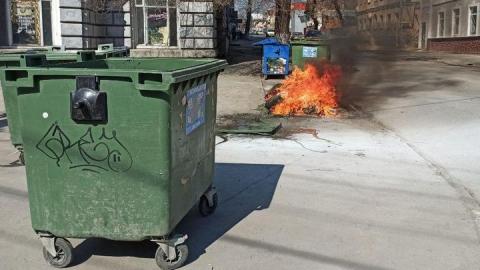 На Лермонтова сгорели мусорные контейнеры | Видео