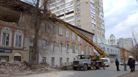 Улица Мичурина перекрыта для демонтажа аварийного здания