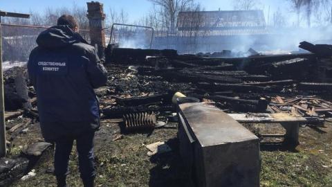 На пепелище нашли останки человека