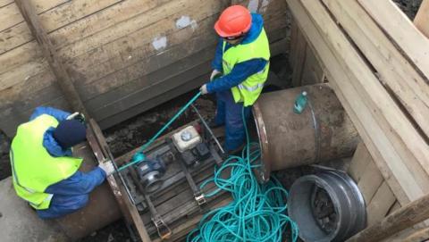 КВС: участок водопровода по Плодородной реконструирован методом санации
