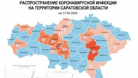 Обновлена коронавирусная карта районов Саратовской области