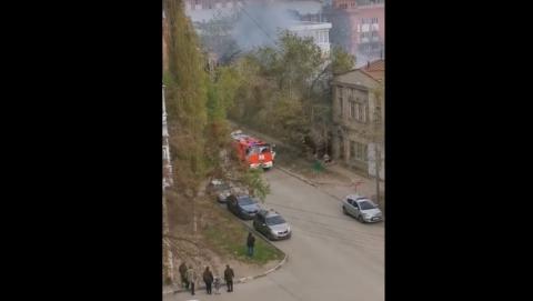 Саратовцы заподозрили застройщика в поджоге | ВИДЕО