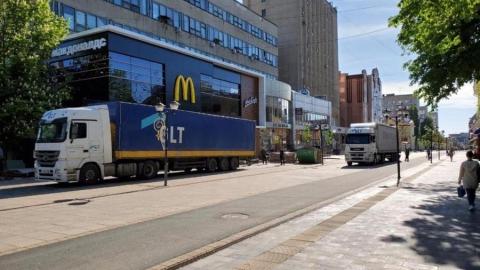 Водителей накажут за фуры в пешеходной зоне