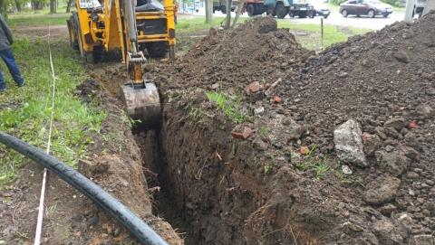 Перед ремонтом тротуаров по Московскому шоссе КВС заменит водопровод