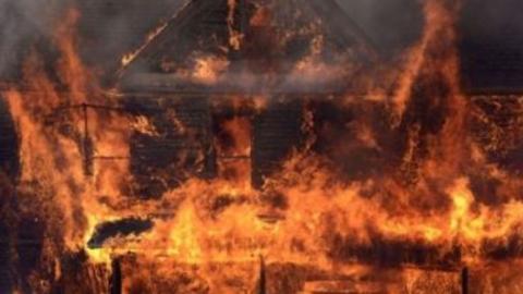 Большой пожар в Волжском районе
