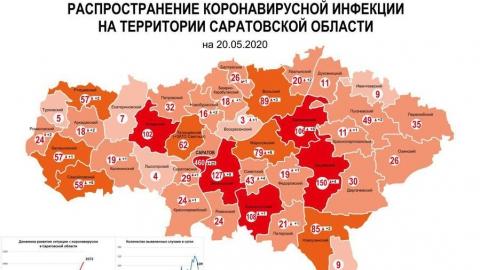 Новая коронавирусная карта Саратовской области