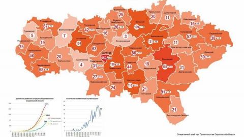 Вышла обновленная карта распространения коронавируса по Саратовской области