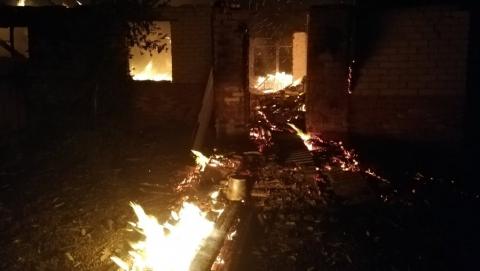 Житель Римско-Корсаковки погиб на пожаре в собственном доме