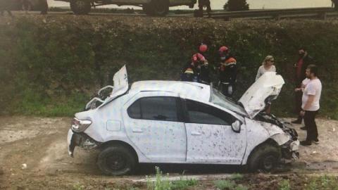 Саратовец пострадал в перевернувшейся у аэропорта Гагарин иномарке