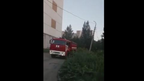 Пожар около школы № 49 | ВИДЕО