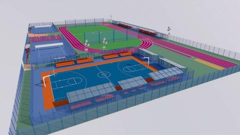 Идут работы на спортивном объекте, возводящемся при поддержке Балаковской АЭС