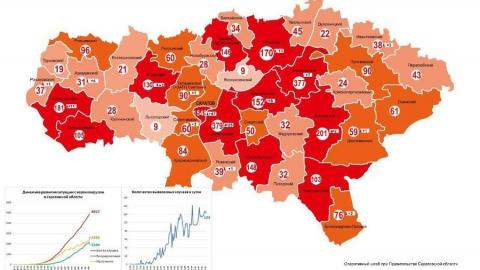Вышла обновленная версия карты распространения коронавируса по Саратовской области