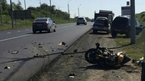 В Саратовском районе мотоциклист госпитализирован после ДТП